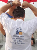 City2surf Melbourne Vetmed running team shirts